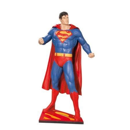 Superman figura a tamaño real fibra de vidrio