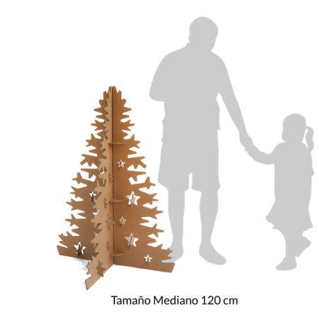 Árbol de navidad en cartón 120 cm