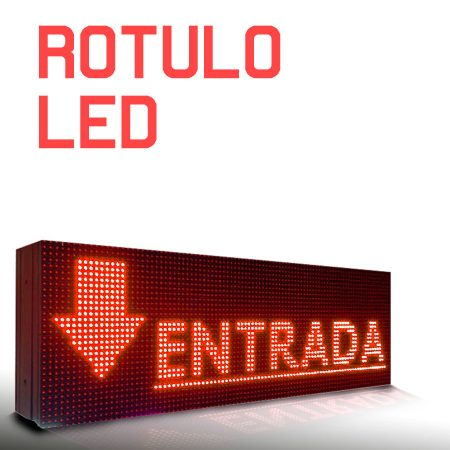 Rótulo led luminoso rojo