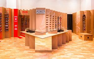 Diseño interior tienda en cartón