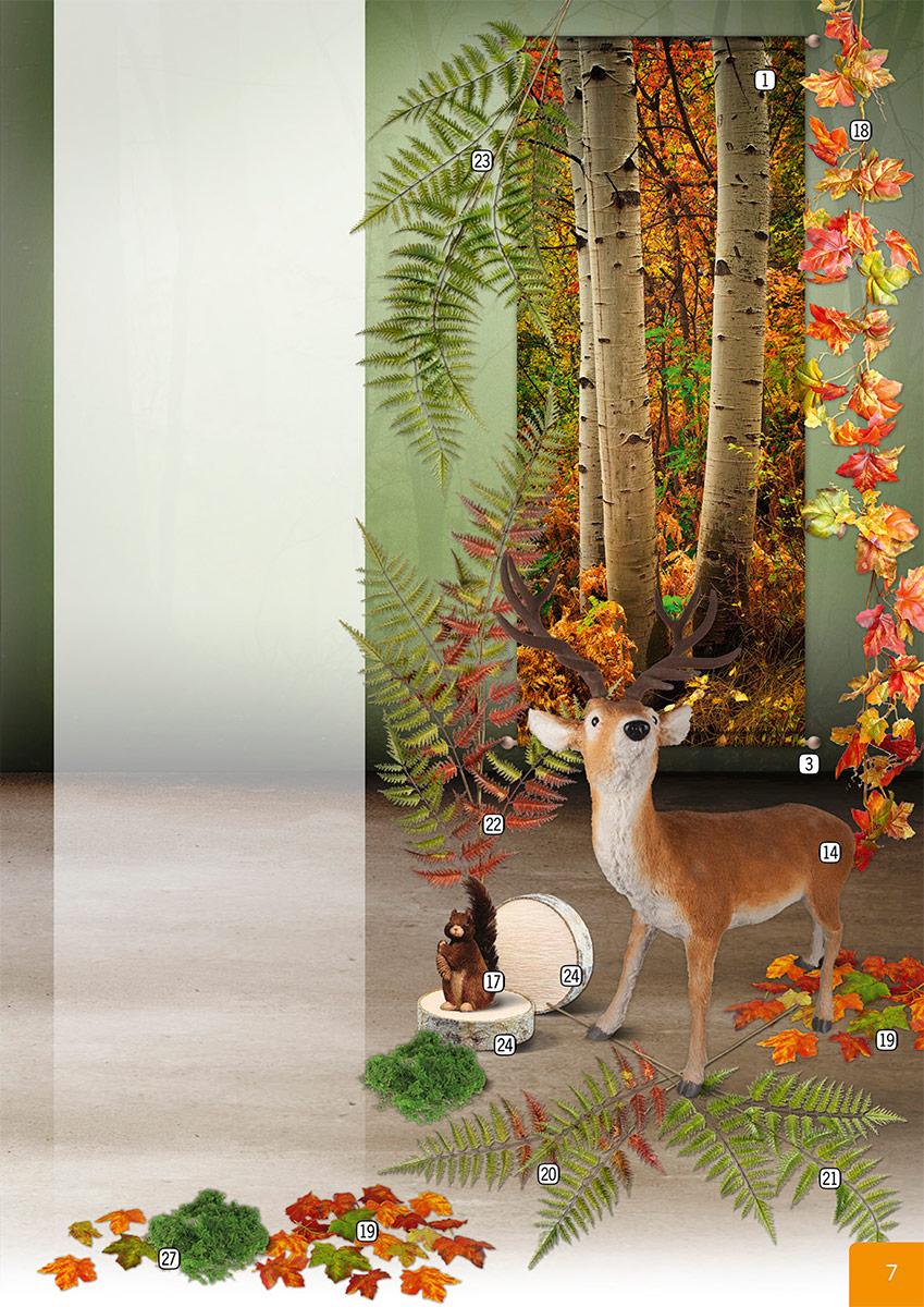 Decoración hojas de otoño