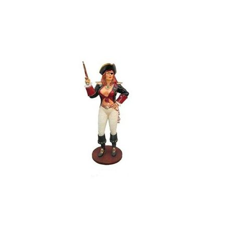 mujer-pirata-con-pistola en fibra de vidrio