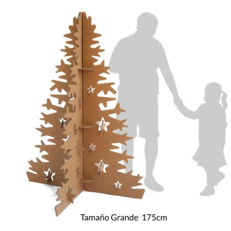 Árbol de navidad en cartón 175 cm