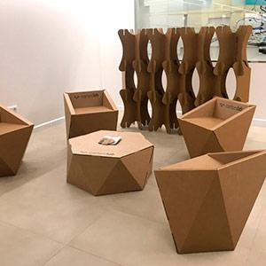 Proyectos personalizados interiorismo en cartón