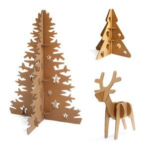 Decoracin de naviad en cartón