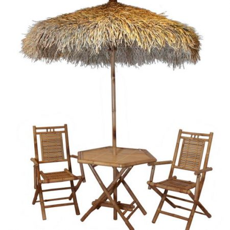 Conjunto silla/mesa/parasol Hawaiano decoración