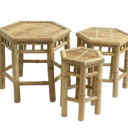 Conjunto de taburetes de bambú_20581