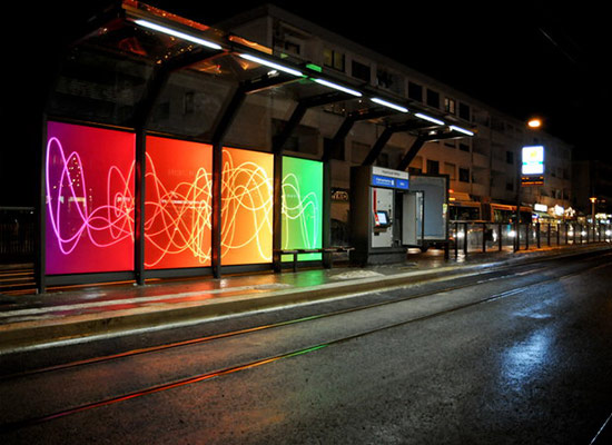 Paneles de luz led interiorismo
