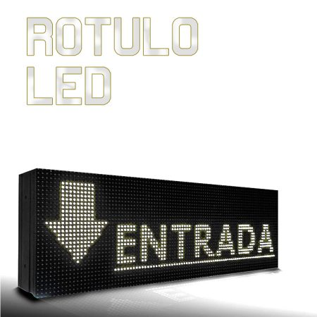 Rótulo led luminoso blanco