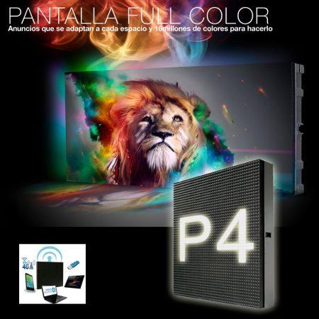Pantalla LED pitch 4 de alta luminosidad, pantalla led transparente, poster led, publicidad digital, publicidad led