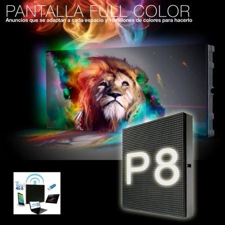 Pantalla LED pitch 8 de alta luminosidad, pantalla led transparente, poster led, publicidad digital, publicidad led