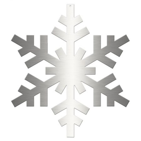 COPO DE NIEVE-HIELO 2D ACERO INOXIDABLEØ 45 CM, decoración escaparates de navidad, consejos decoración de navidad, adornos árbol de navidad, ideas decorativas para tiendas en navidad.