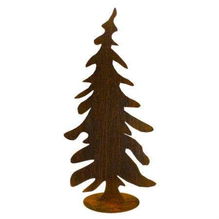 ÁRBOL DE NAVIDAD DE HIERRO OXIDADO, decoración escaparates de navidad, consejos decoración de navidad, adornos árbol de navidad, ideas decorativas para tiendas en navidad.