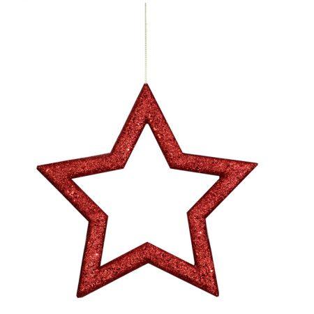 ESTRELLA NAVIDAD ROJA CONTORNEADA-HUECA, 39X37 CM, decoración escaparates de navidad, consejos decoración de navidad, adornos árbol de navidad, ideas decorativas para tiendas en navidad.