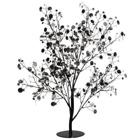 ARBOL DE LENTEJUELAS PLATA-NEGRO 90 CM, decoración escaparates de navidad, consejos decoración de navidad, adornos árbol de navidad, ideas decorativas para tiendas en navidad.