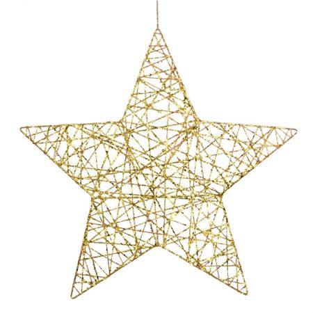 ADORNO ESTRELLA DORADA TROQUELADA Ø 40 CM, decoración escaparates de navidad, consejos decoración de navidad, adornos árbol de navidad, ideas decorativas para tiendas en navidad.