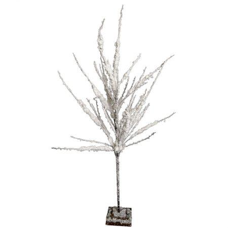 ÁRBOL NEVADO CON RAMAS SECAS CON ACABADO FLOCADO, decoración escaparates de navidad, consejos decoración de navidad, adornos árbol de navidad, ideas decorativas para tiendas en navidad.