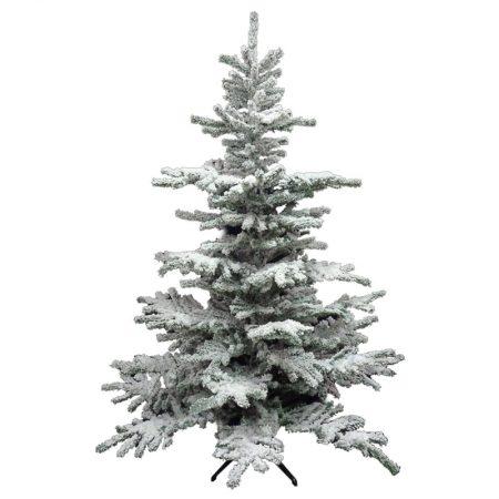 ADORNO ÁRBOL DE NAVIDAD NEVADO 210 CM, decoración escaparates de navidad, consejos decoración de navidad, adornos árbol de navidad, ideas decorativas para tiendas en navidad.