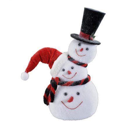 MUÑECO DE NIEVE CON TRES CABEZAS, decoración escaparates de navidad, consejos decoración de navidad, adornos árbol de navidad, ideas decorativas para tiendas en navidad.