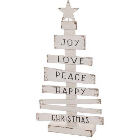 ÁRBOL ABETO DE NAVIDAD CON MENSAJES 46X12X87, decoración escaparates de navidad, consejos decoración de navidad, adornos árbol de navidad, ideas decorativas para tiendas en navidad.