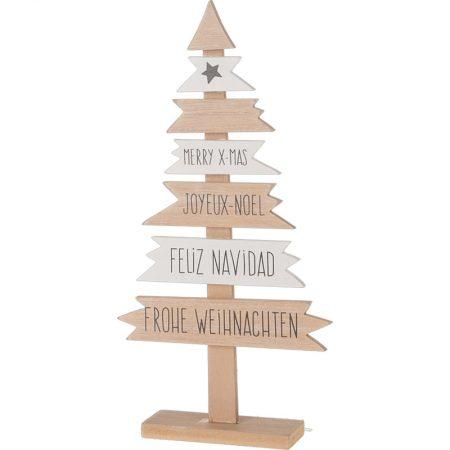 ÁRBOL DE NAVIDAD CON MENSAJES 28 CM, decoración escaparates de navidad, consejos decoración de navidad, adornos árbol de navidad, ideas decorativas para tiendas en navidad.