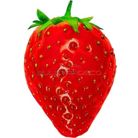 Réplica fresa roja impresa, Replica de comida, ficticio de alimentos, fake food, alimentos de plástico