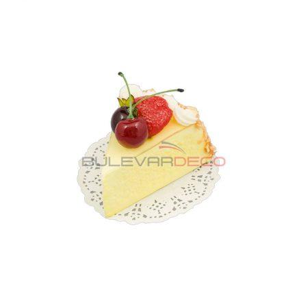 TARTA DE QUESO con cerezas, Replica de comida, ficticio de alimentos, fake food, alimentos de plástico