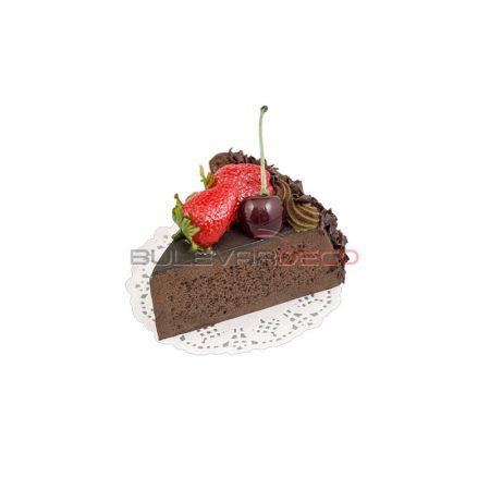 TARTA DE CHOCOLATE con fresas, Replica de comida, ficticio de alimentos, fake food, alimentos de plástico