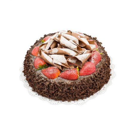 RÉPLICA PASTEL DE CHOCOLATE CON FRESAS Ø 23x10cm, Replica de comida, ficticio de alimentos, fake food, alimentos de plástico