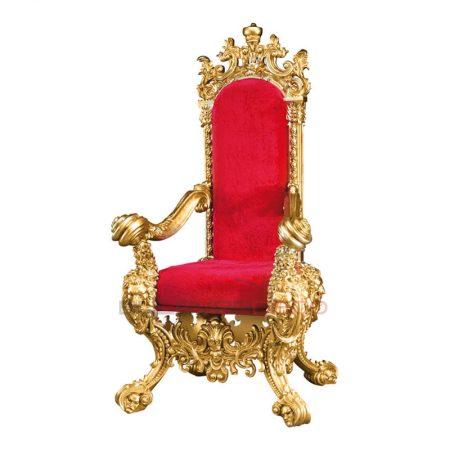 TRONO/SILLÓN BARROCO NAVIDAD PAPA NOEL 186CM, decoración escaparates de navidad, decoración navideña, decoración centros comerciales, sillón reyes magos, escaparates, decoración barroca