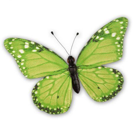Mariposa verde grande 50x35cm, para decorar el escaparate de primavera en tiendas y comercios, mariposas para centros comerciales