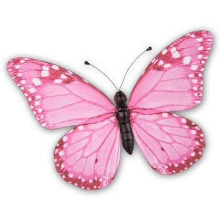 Mariposa rosa grande