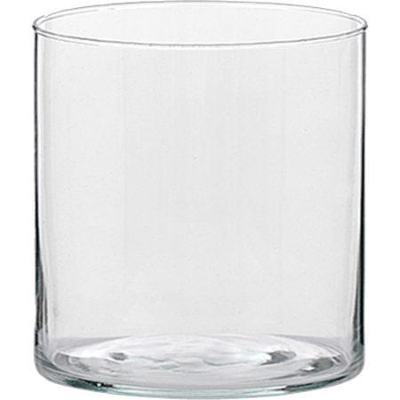 JARRÓN DE CRISTAL TUBO 10 CM Ø 10 CM, decoración para restaurantes, decoración para hoteles, decoración para tiendas, cristal decorativo, jarrones para la mesa, jarrón para la decoración de la mesa, réplica de comida para los jarrones de cristal, decoración cristal con réplica de comida, exposición de imitación de comida con jarrones de cristal transparente